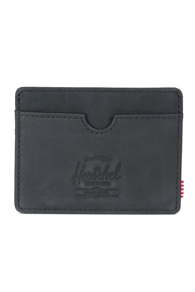 Herschel Supply Co Charlie Leather RFID Wallet Black