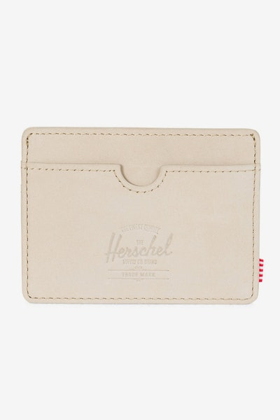 Herschel Supply Co Charlie Leather RFID Wallet Nude