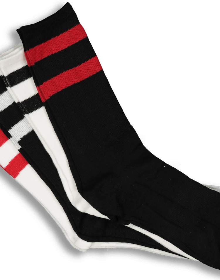 ENES Stripe Sock 4 Pack White/Black