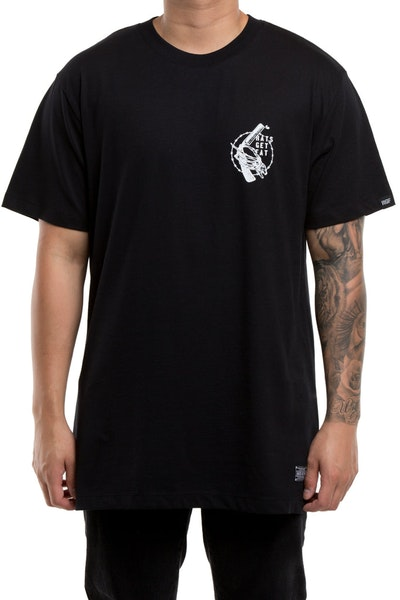 Rats Get Fat Cut Throat Gang Tee Black