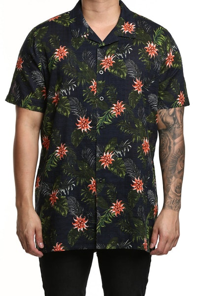 New Slaves Partay Button Up Shirt Floral