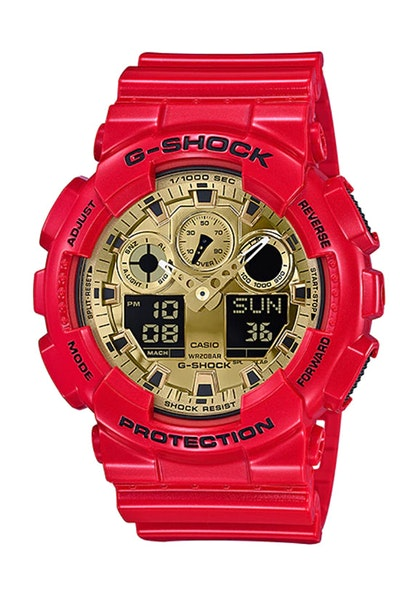G-Shock GA-100VLA-4ADR Red/Gold