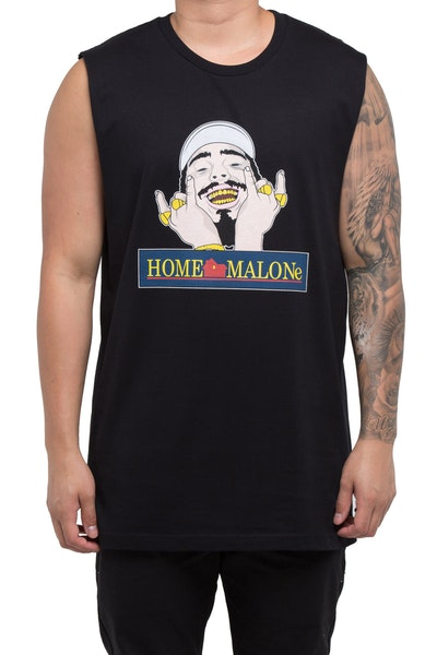 Goat Crew Home Malone Muscle Tee Black