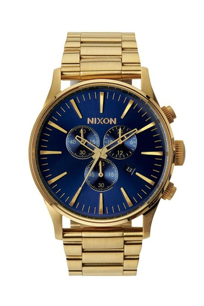Nixon Sentry Chrono Gold/Blue