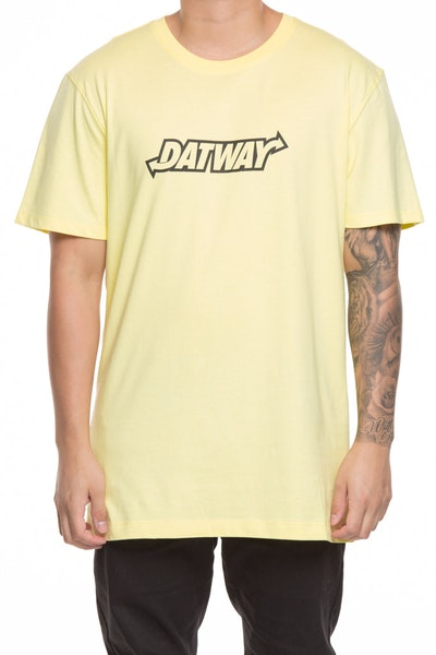 GOAT CREW DATWAY SS TEE LIMELIGHT YELLOW