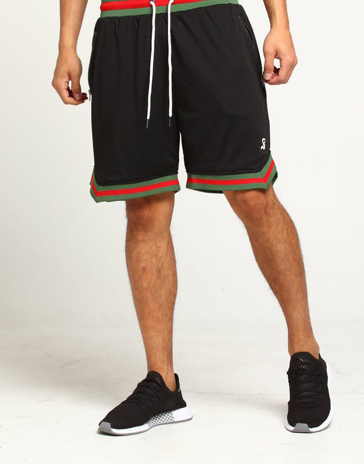 50686bf26 Saint Morta Mesh Basketball Short Black Green Red – Culture Kings