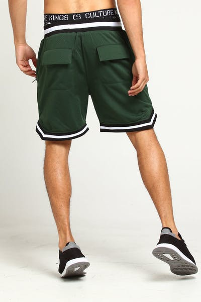 Saint Morta Mesh Basketball Short Forest Green
