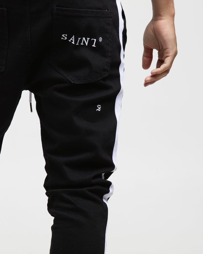 Saint Morta Versus Distressed Denim Jogger Black