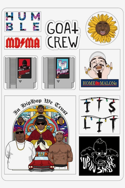 Goat Crew Sticker Sheet Multi-Coloured