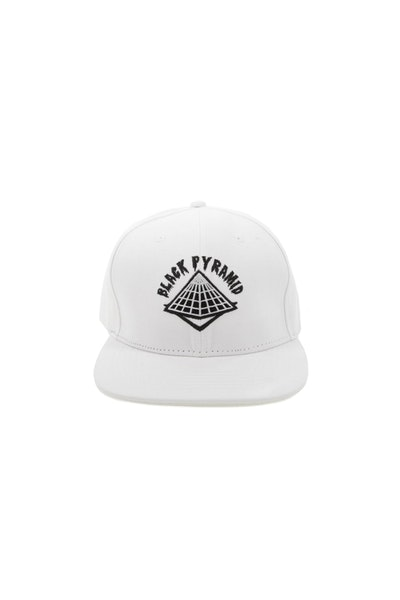 Black Pyramid Snapback White