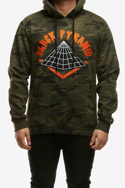 Black Pyramid Core Logo Hood Camo