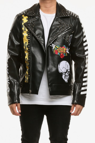 Eternity BC/AD Here Comes The Pain Moto Jacket Black