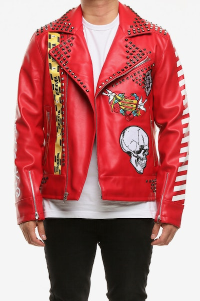 Eternity BC/AD Here Comes The Pain Moto Jacket Red