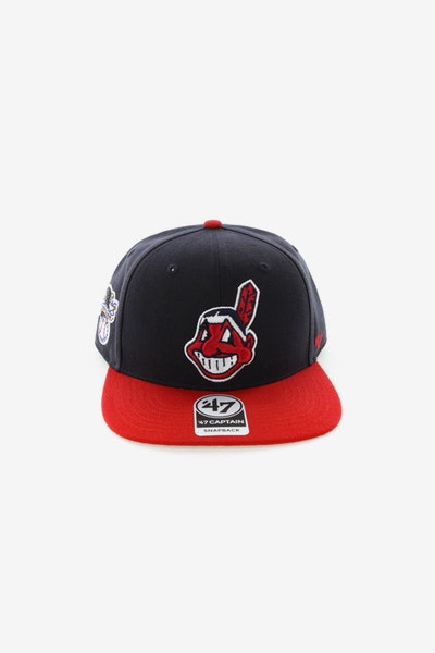 47 Brand Cleveland Indians Captain Snapback Navy