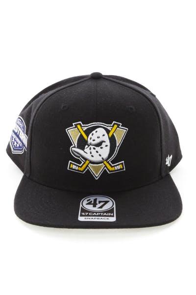 the latest 2a3b5 5bcd5 47 Brand Anaheim Ducks Captain Snapback Black ...