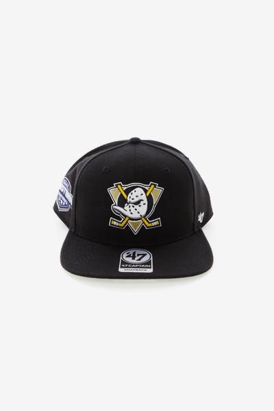 c5ae418c467 47 Brand Anaheim Ducks Captain Snapback Black