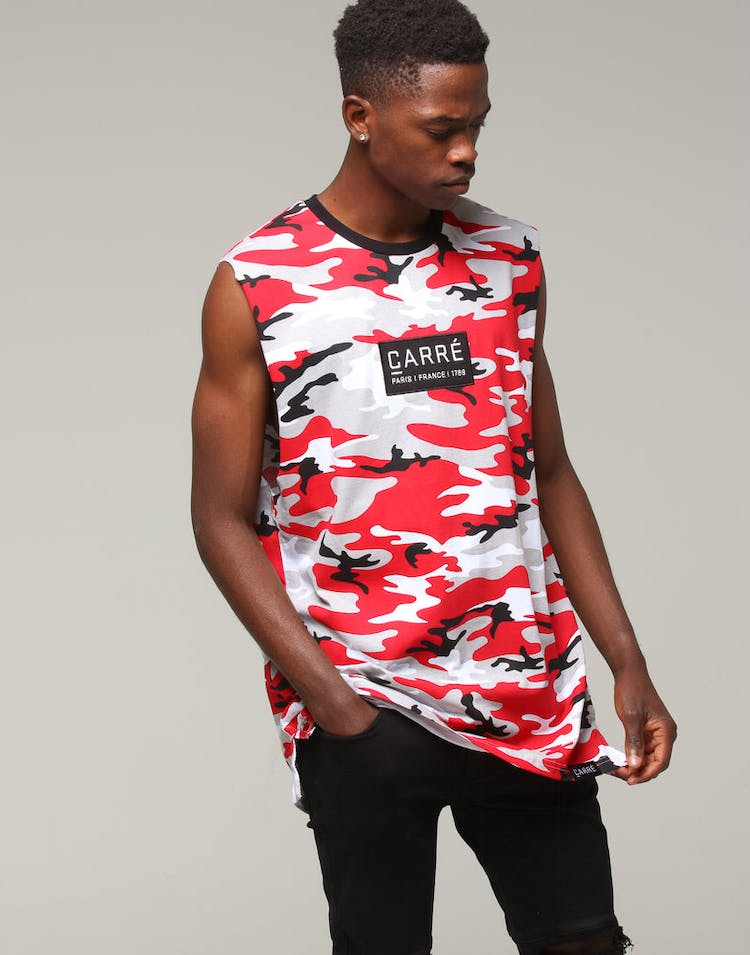 Carré Camo Rouge Muscle Tee Red Camo
