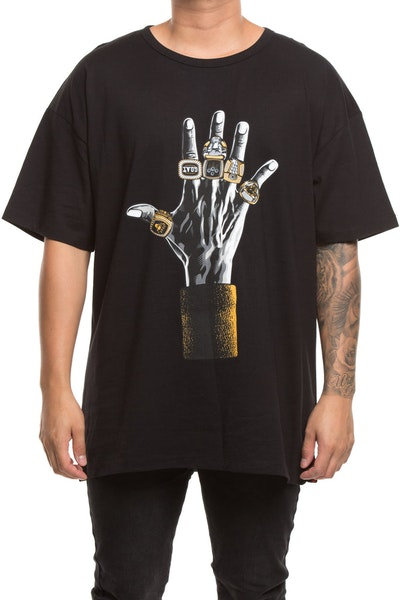 Retro Kings 6 Rings Tee Black