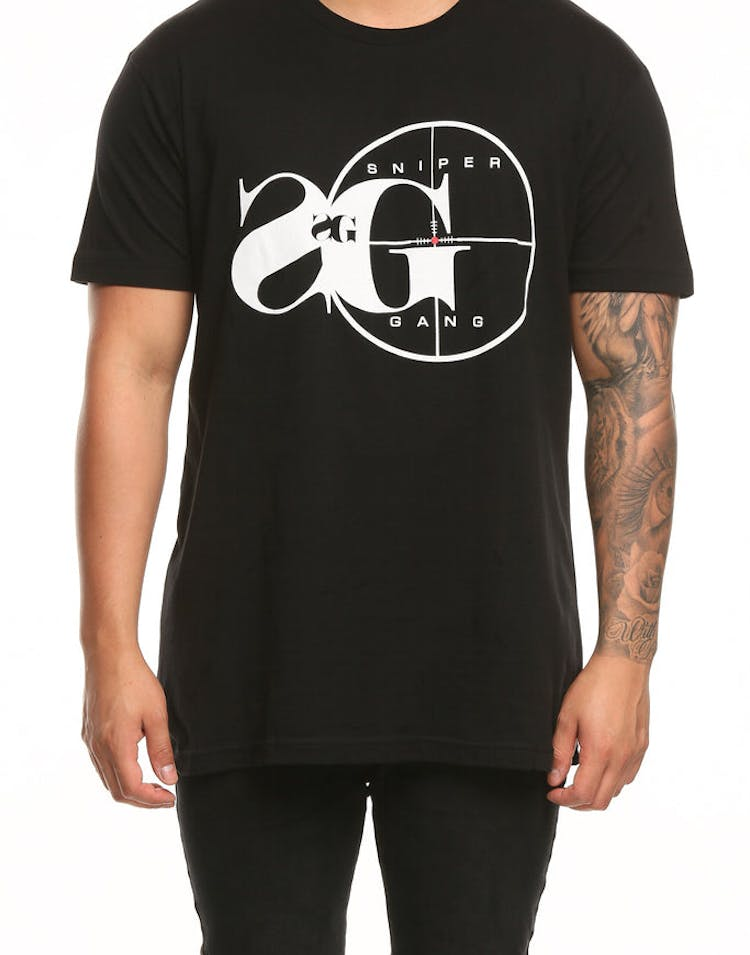 ba1fee4d8 Sniper Gang Logo Tee Black