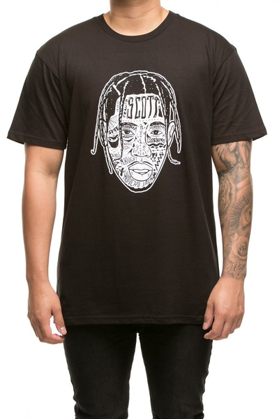 GOAT CREW SCOTT EXPRESSION STAPLE TEE BLACK
