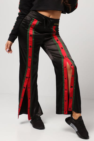 Status Society Opulence Snap Pants Black