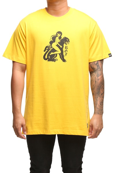 Rats Get Fat X Ly Moloney Panther SS Tee Mustard