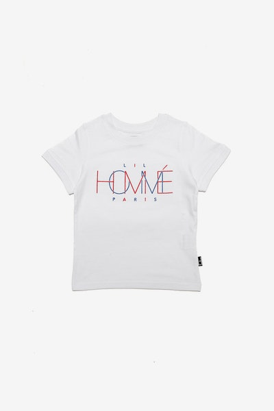 Lil Homme Link Up De Base SS Tee White