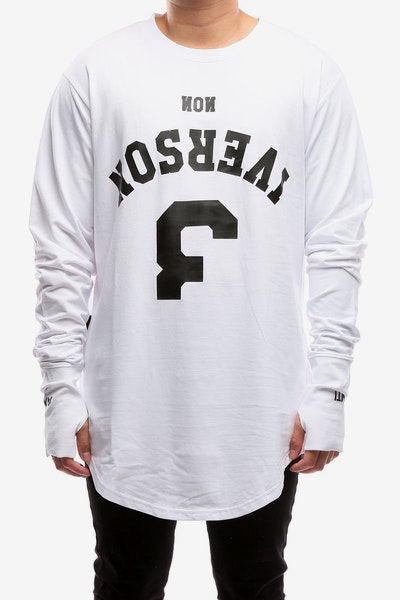 The Anti-Order Non-Iverson Legion LS Tee White/Black