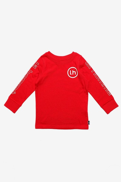 Lil Homme Patrice De Base L/S Tee Red
