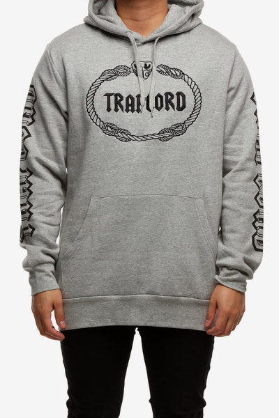 Traplord Embroidered Hood Grey