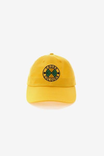 78bbf548d4e Cross Colours LA Classic Embroidered Dad Hat Yellow