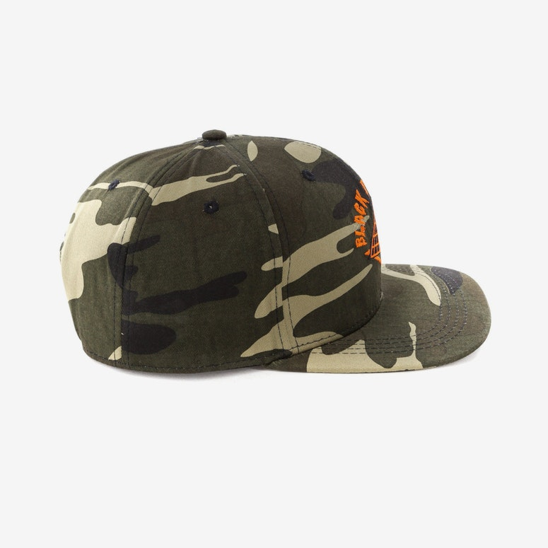 Black Pyramid Pyramid Snapback Camo/Orange