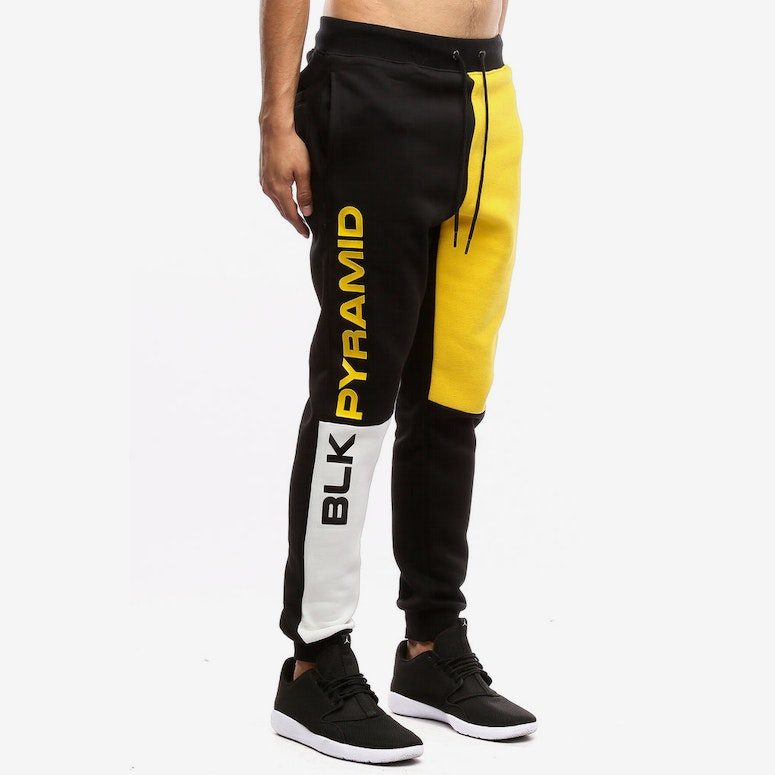 Black Pyramid Blocks Pants Yellow