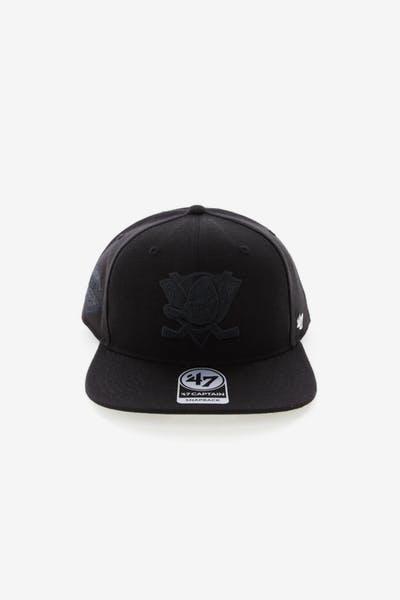 brand new c2983 ead2e 47 Brand Anaheim Ducks Captain Snapback Black Black