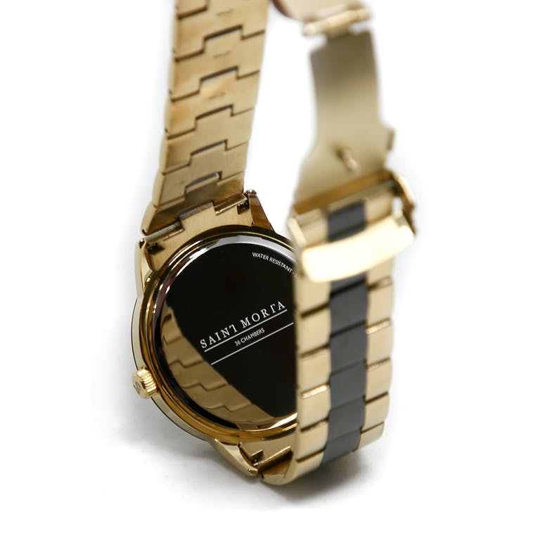 Saint Morta 36 Chambers Watch Gold/Black