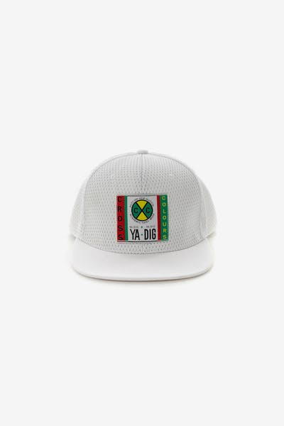 33cb402d14b Cross Colours LA Mesh Snapback White