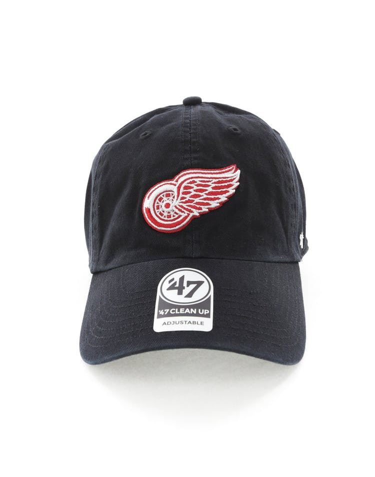 new style c1114 8e00d 47 Brand Detroit Red Wings Clean Up Strapback Black – Culture Kings