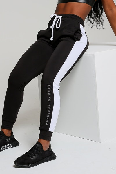 Criminal Damage Women's Oregon Jogger Black/White