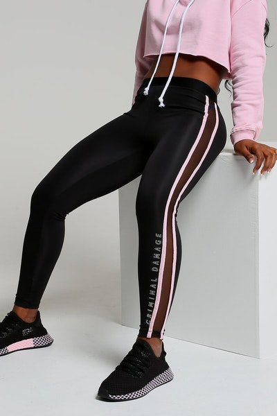 Criminal Damage Women's Oregon Leggings Black/Pink
