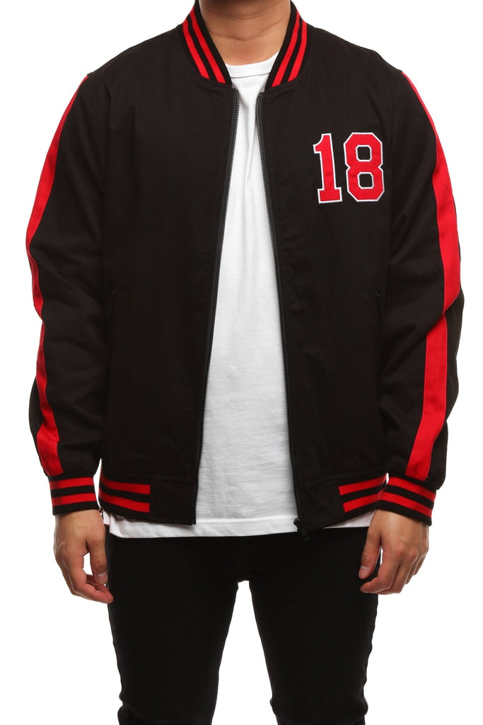 Saint Morta Tigers Varsity Jacket Black Red Culture Kings