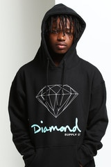 DIAMOND SUPPLY OG SIGN HOODIE CORE BLACK