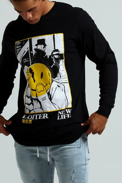 Loiter NYC New Life L/S Tee Black