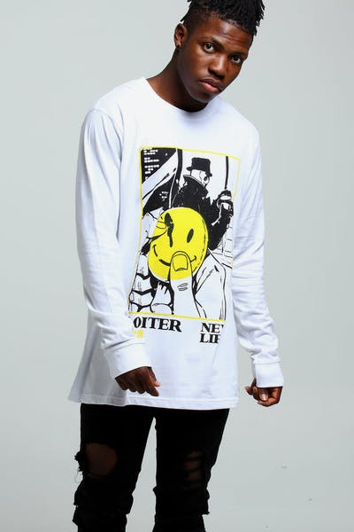 Loiter NYC New Life L/S Tee White