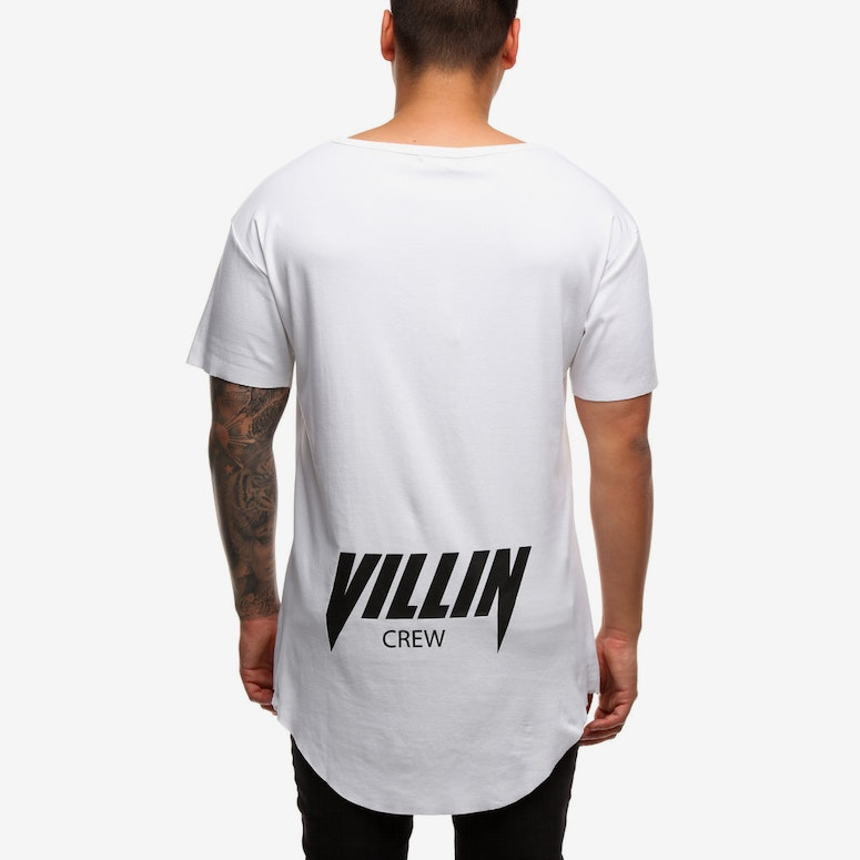 Brick City Villin Faded Faith Tee White/White