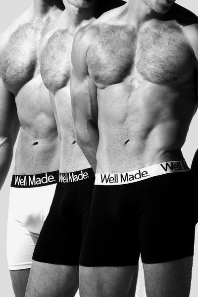 Well Made Vacation Brief 3 Pack Black/White