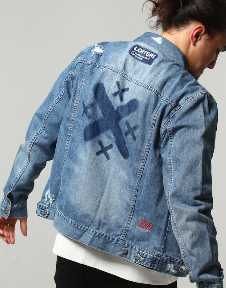 finest selection 1445f 75cce Loiter NYC Oversized Denim Jacket Washed Blue