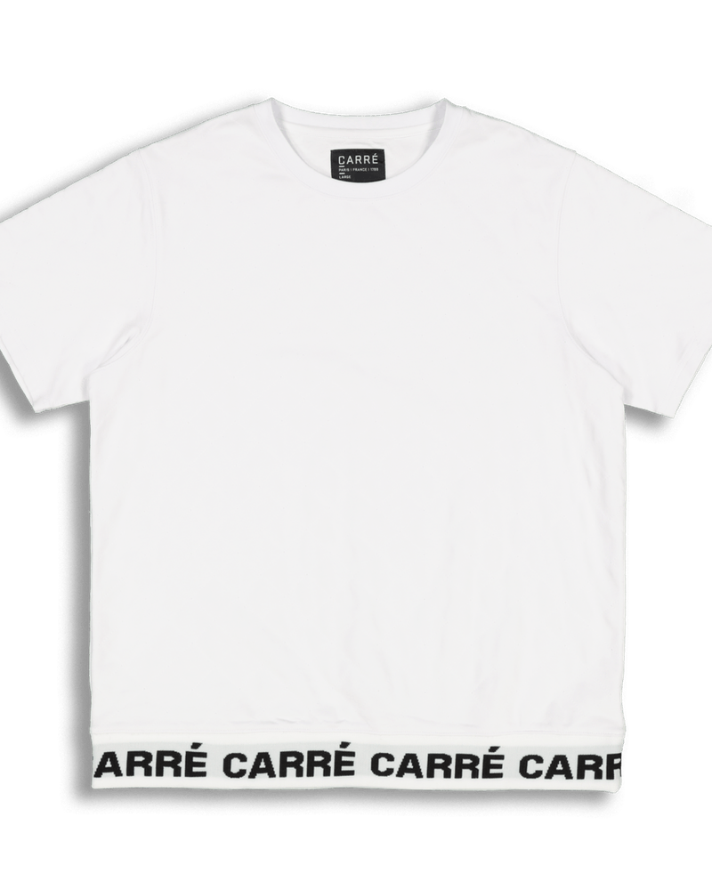 Carré Signal Quilted SS Sweater White