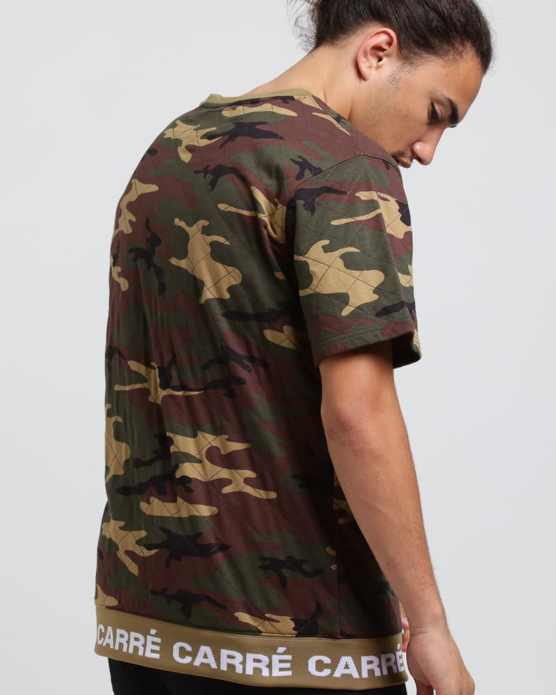 Carré Signal Quilted SS Sweater Camo