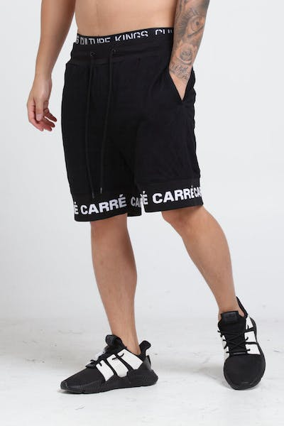 Carré Signal Quilted Shorts Black