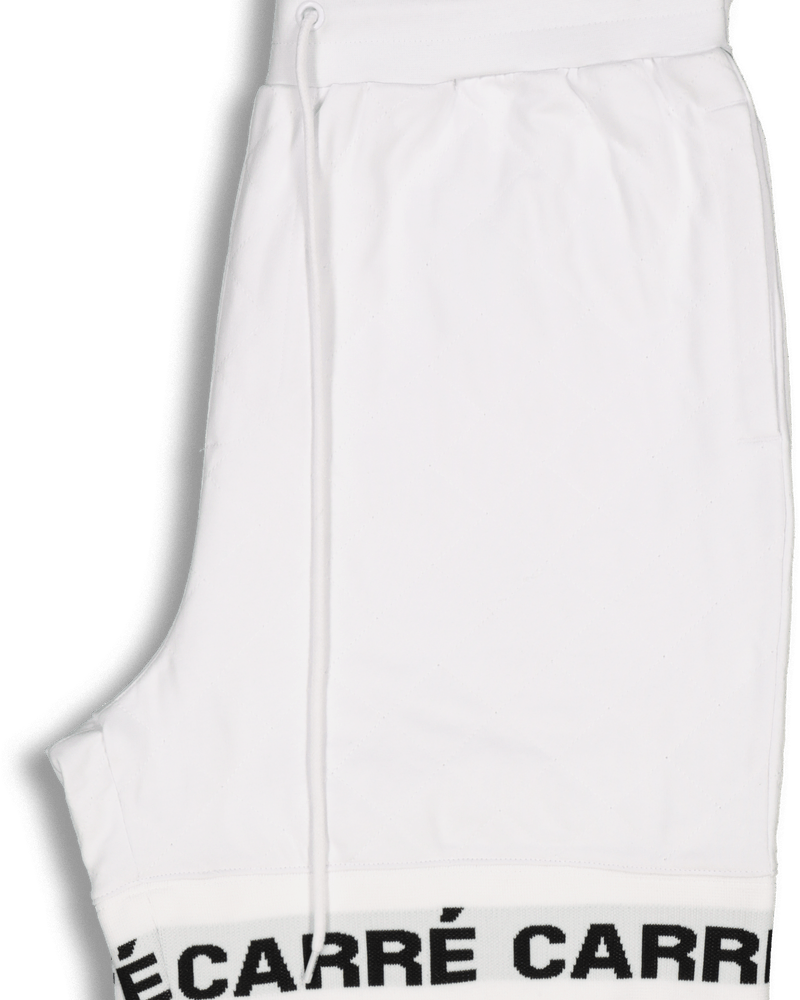 Carré Signal Quilted Shorts White